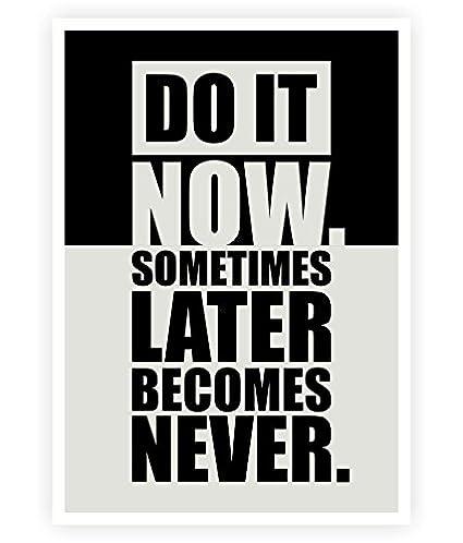 Amazon.com: LAB NO 4 Do It Now Inspirational Gym Motivational