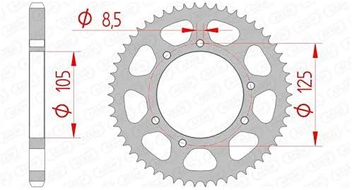 Corona 62 Dientes Acero Est/ándar Paso 428 Tipo 47200 47001322