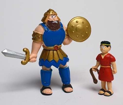 Toy - Action Figure - Beginners Bible - David And Goliath by Renewing Minds