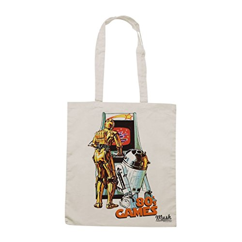 Borsa 80S Videogames Star Wars - Panna - Film by Mush Dress Your Style