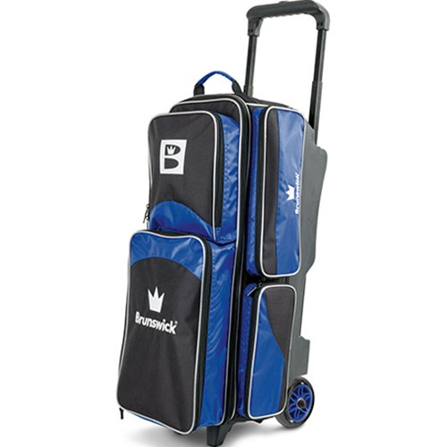 Brunswick Edge Triple Roller Bowling Bag, Blue
