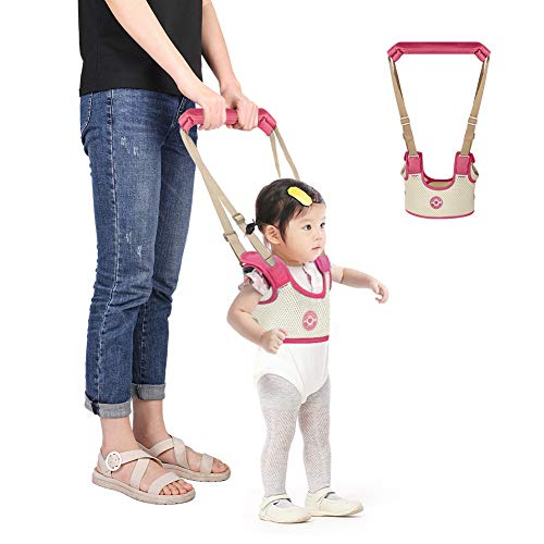Accmor Baby Walking Harness Handheld Baby Walker, Safe Stand Hand Held Baby Walking Assistant Walking Helper, Breathable Safety Walking Harness Walking Belt for Toddler Infant,Adjustable