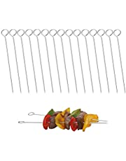 8 inch Stainless Steel Skewers, Roast Goose Needle, roll Needles, Meat Needles, Metal skewers, Cocktail skewers,BBQ Skewers for Trussing Turkey and Poultry (15Pack)