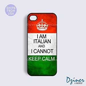 iPhone 4 4s Tough Case - I Am Italian I cannot Keep Calm iPhone Cover