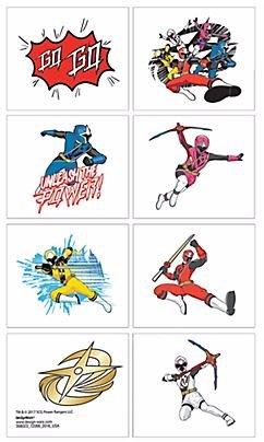 Power Rangers Ninja Tattoos Set of 8 Tattoos -