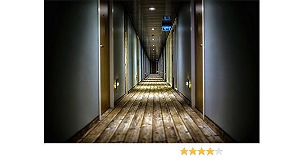 LFEEY 7x5ft 3D Hotel Corridor Photo Backdrop Horror Empty Building Tunnel Hospital Dark Hallway Photography Background Halloween Events Party Decorations Photo Studio Props