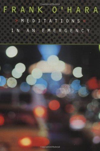 Meditations Emergency Frank OHara product image