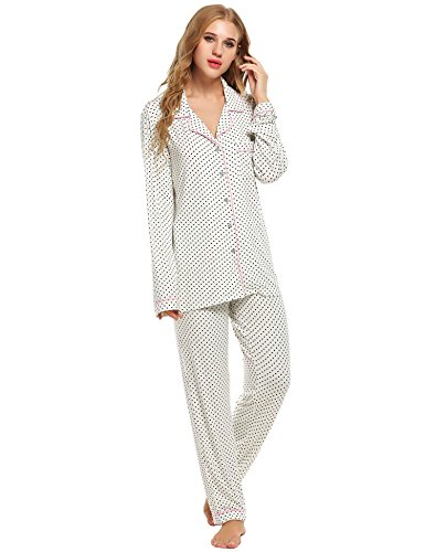 Bifast Women s Comfort Sleepwear Long Sleeve Pajama With PJ Set XS-XXL d486d553b