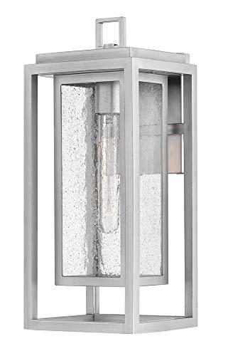 Hinkley 1004SI Republic Outdoor Wall Sconce, 1-Light, 100 Watts, Satin Nickel