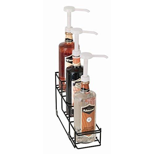 Dispense-Rite 3-Bottle Black Wire Bottle Organizer