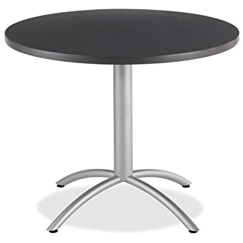 Iceberg ICE65628 CafeWorks Round Café Table With Powder Coated Steel Base,  36u0026quot; Diameter
