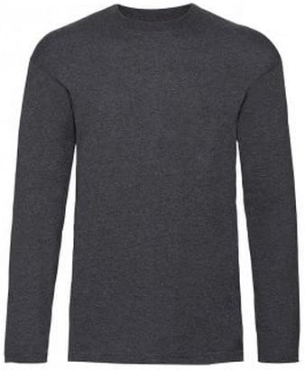 Fruit of the Loom Valueweight Mens Long Sleeve Cotton T Shirt Tee