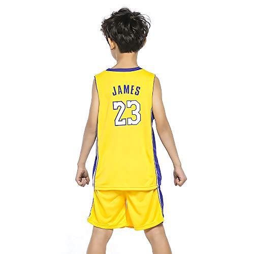BUY-TO Jersey de James Uniforme de Baloncesto para niños Camiseta de Traje de niño Pantalones Cortos de los Lakers Adecuado para niños de 3 a 15 años.