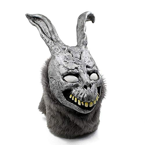 Frank The Bunny Mask (Donnie Darko Frank the Bunny Mask Latex Overhead with Fur Scary Animel Rabbit Mask by hearty)