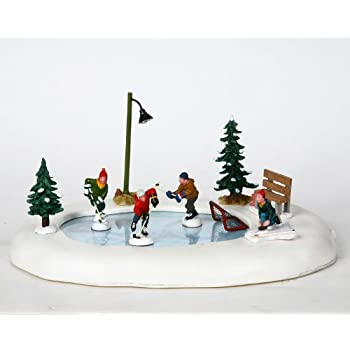 lemax 94017 skating pond - Christmas Village Ice Skating Rink