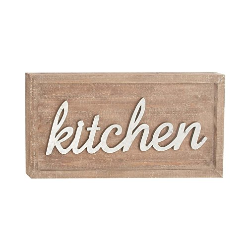 Benzara Wood Wall Sculptures Bm118784 Benzara Kitchen Wood Metal Wall Sign Decor 24 X 12 X 1 Inches Multicolored
