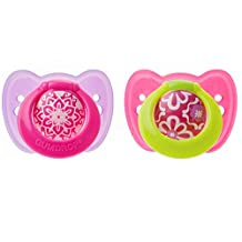 The First Years Gumdrop Ortho Pacifier, 6-18 Months, Pink/Purple, 2 Count