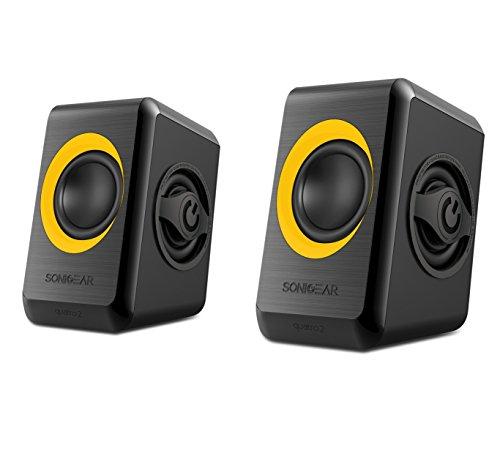 Sonicgear Quatro 2 Quad Reflex Bass Speakers - Orange