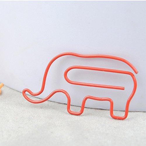 ZWANDP Pequeño elefante forma bookmark oficina papelería snacks carpeta 10 colores mezclados