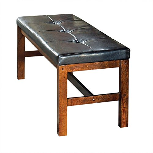 Steve Silver Company Lakewood Bench, 52'' x 16'' x 19'', Medium Oak by Steve Silver
