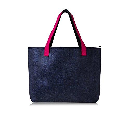 The Light Roxy Tote Rock Inside Handbag Pattern Blue 2 Bleu A5xq76x