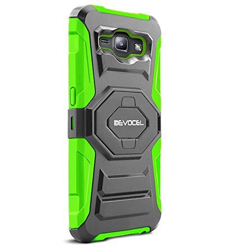 Galaxy J1 (2015) Case, Evocel [New Generation Series] Belt Clip Holster, Kickstand, Dual Layer for Samsung Galaxy J1 (Model No J100) / J1 (2015 Release), Green (EVO-SAMJ1-XX12)