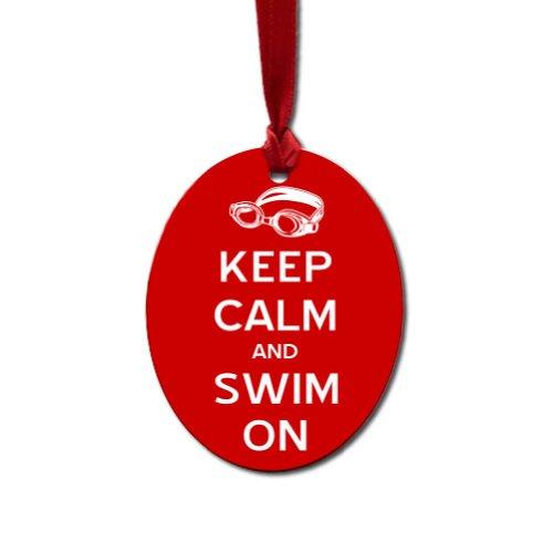 Oval Swimming Ornament