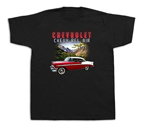 Mens Tee shirts T-shirt print 1956 Chevrolet Bel Air vintage classic hotrod car Bel Air Classic Car T-shirt