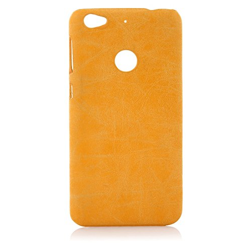 wow imagine premium handmade weathered leather texture collection back case cover for leeco letv le 1s  textured yellow    Yellow