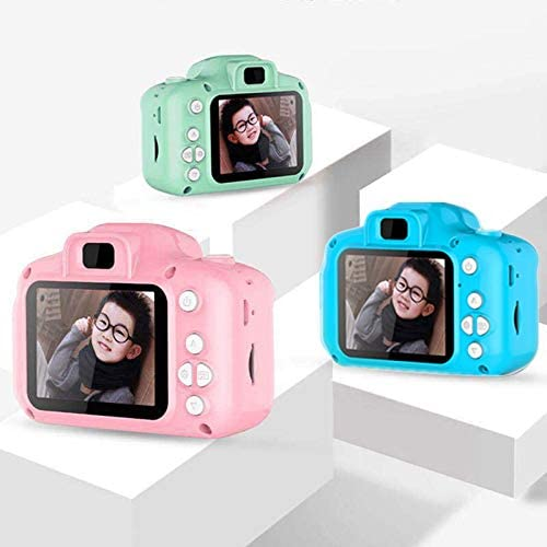 HENGTONGTONGXUN Rechargeable Kids Mini Digital Camera 2.0 Inch HD Screen 1080P Video Recorder Camcorder Language Switching Timed Shooting #S Easy to use Bundle : with 16GB TF Card, Color : Pink