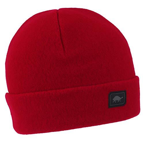- Turtle Fur Original Fleece The Hat, Heavyweight Fleece Watch Cap Beanie, Red