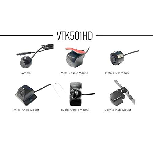 BOYO VTK501HD - Universal HD Backup Camera with Multiple Mounting Options (6-in-1 Camera System)