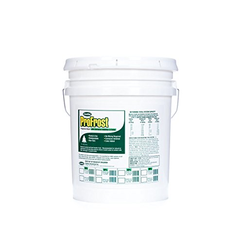 Green Chiller - ComStar 35-838 ProFrost Chiller/Anti Freeze/Heat Transfer Fluid with Corrosion Inhibitor and Color, 50% Solution Ratio, 5 gal Pail, Fluorescent Green