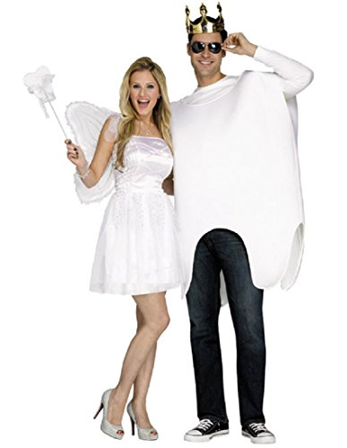 Fun World Unisex Tooth Fairy Adult Costume, White One Size