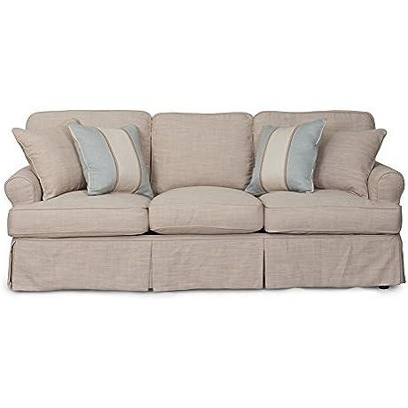 Sunset Trading Horizon Slipcovered Sofa 88 Linen