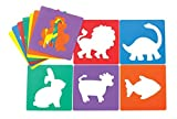 Colorations EANST Animal Shape Stencils, 8'' (Pack of 12)