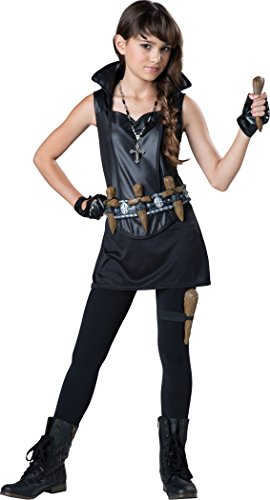 Vampire Hunter Costumes (InCharacter Costumes Tween's Vampire Slayer Costume, Black, Large)