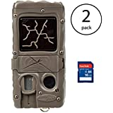 Cuddeback Dual Flash Cuddelink Invisible Infrared Game Camera, 2 Pack + SD Cards