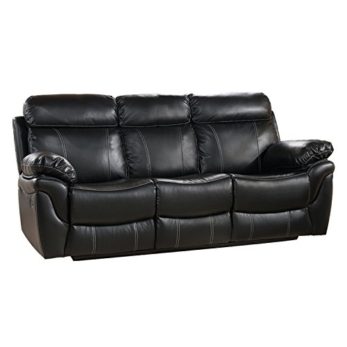 Seating Black Collection Theater (Milton Greens Stars Sophia Reclining Sofa, 88-Inch by 38-Inch by 40-Inch, Black)
