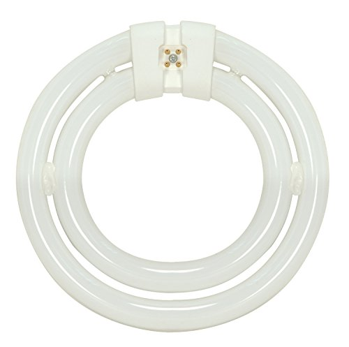 - Satco S6596 3000K 55-Watt 4 Pin T9 2C Circline Lamp, Soft White