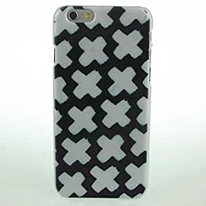 QHY Black White X Pattern Hard Case for iPhone 6