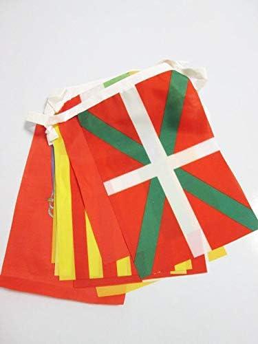 AZ FLAG Guirnalda 5 Metros 17 Banderas de Las 17 COMUNIDADES AUTONOMAS DE ESPAÑA 21x15cm - Bandera REGIONES ESPAÑOLAS 15 x 21 cm - banderines: Amazon.es: Hogar