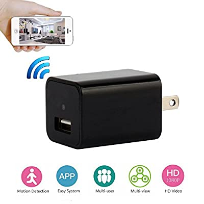 PANNOVO WIFI Hidden Spy Camera , AC Wall Charger Plug HD 1080P Wireless IP Security Camera Wireless Video recorder from PANNOVO
