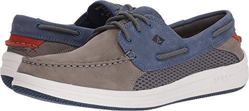 h 3-Eye Boat Shoe, Grey/Navy, 9 Medium US ()