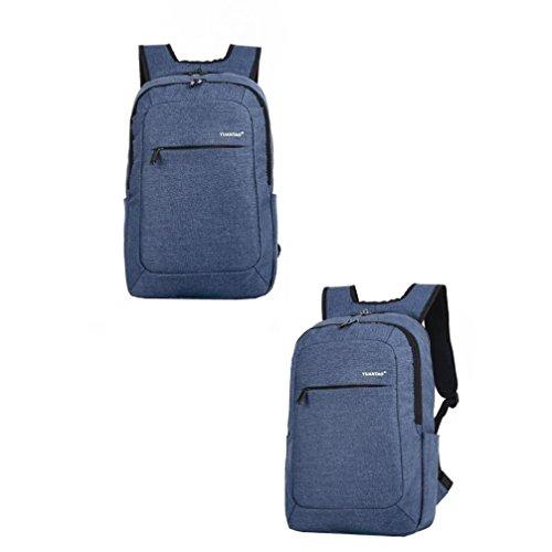 Bolso Kukul Las mujeres los hombres de la moda de viaje bolsa de la escuela satchel mochila bolsa de ordenador portátil (Negro) Azul