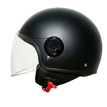 ONE Casco Jet Moto Lift negro mate Talla XS, casco para motocicleta con Calotta de