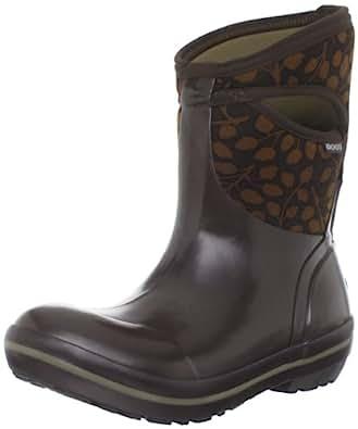 Amazon.com | Bogs Women's Plimsoll Mid Leaf Waterproof