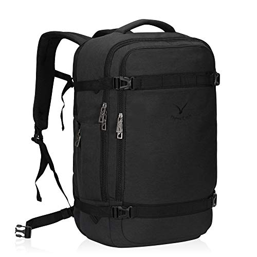 Hynes Eagle 40L Travel Backpack Airline Approved Carry on Backpack Weekender Bag for Women Men, Dark Grey