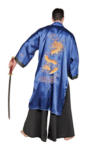 Underwraps Men's Plus-Size Samurai, Blue/Black,