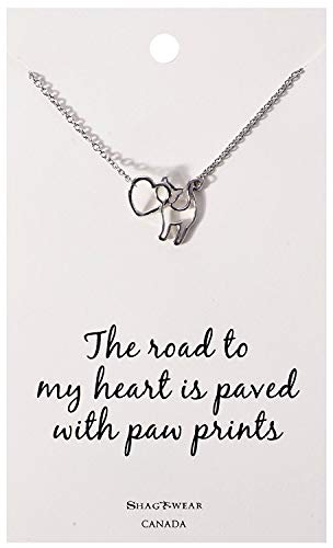 Shag Wear Favourite Animals Inspirations Quote Pendant Necklace (Cat and Heart, -